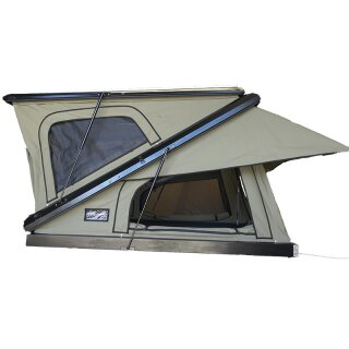 The Bush Company Black MAX Clamshell roof top tent